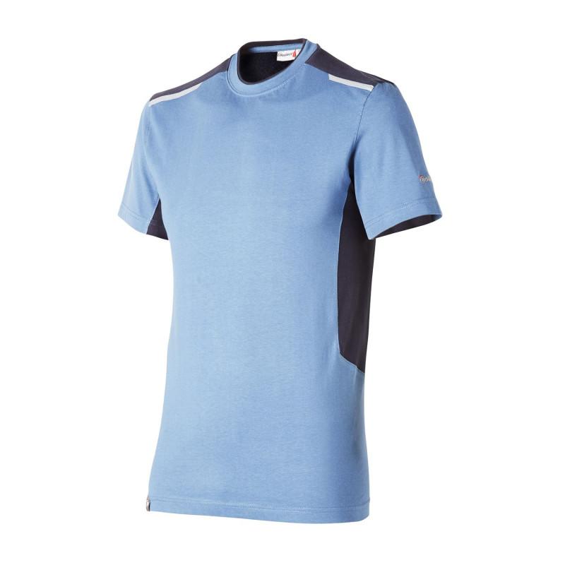 Tee-shirt travail bleu