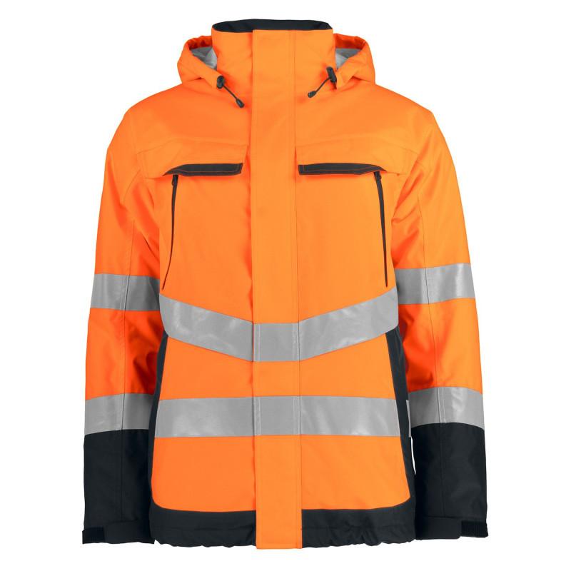 Parka orange haute visibilité