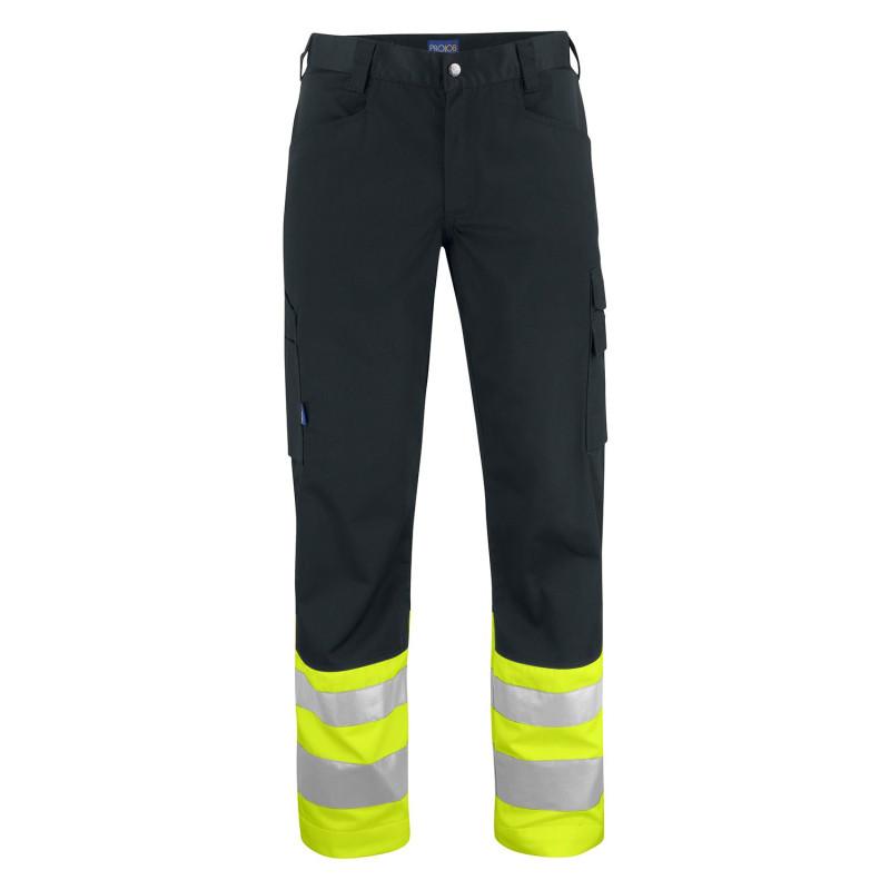 Pantalon haute visibilité jaune noir