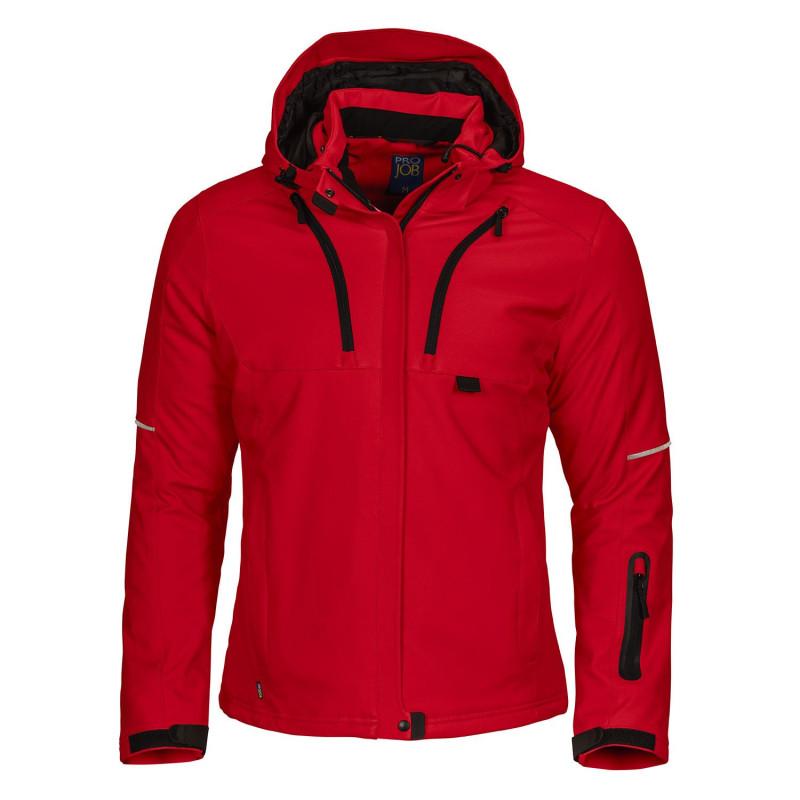 veste travail rouge femme