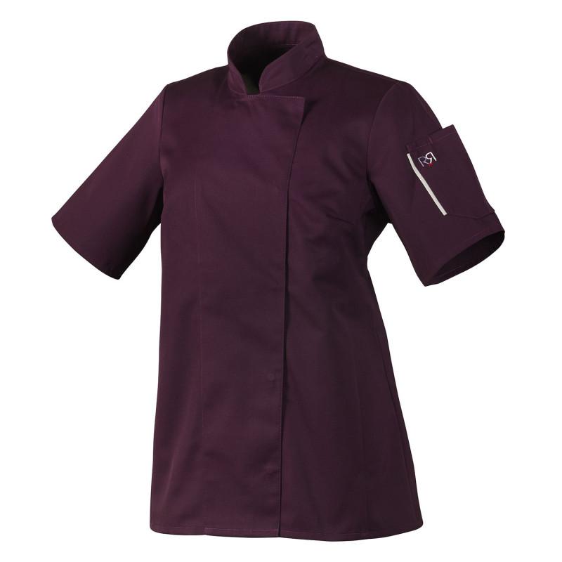 veste cuisine femme violette