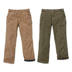 Déstockage pantalon pro coton doublé flanelle