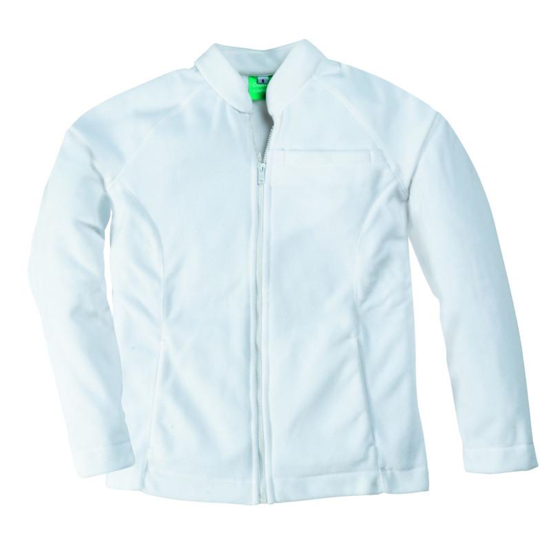 veste de travail polaire femme blanche