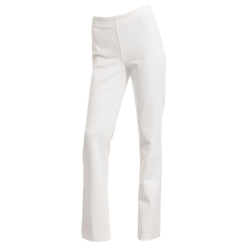 Pantalon professionnel blanc bootcut