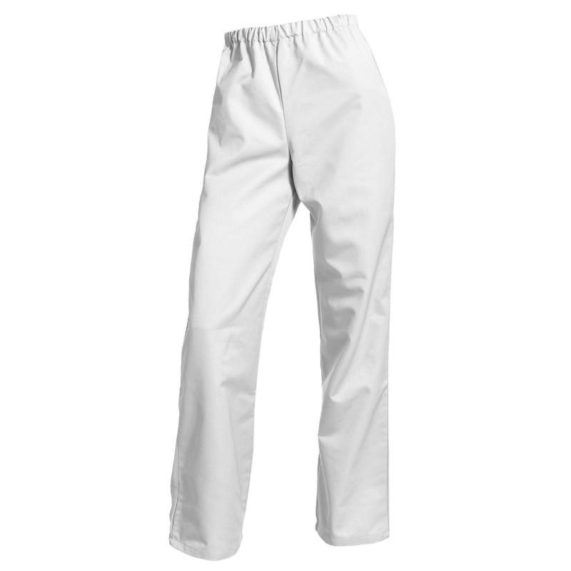 Pantalon de travail blanc femme