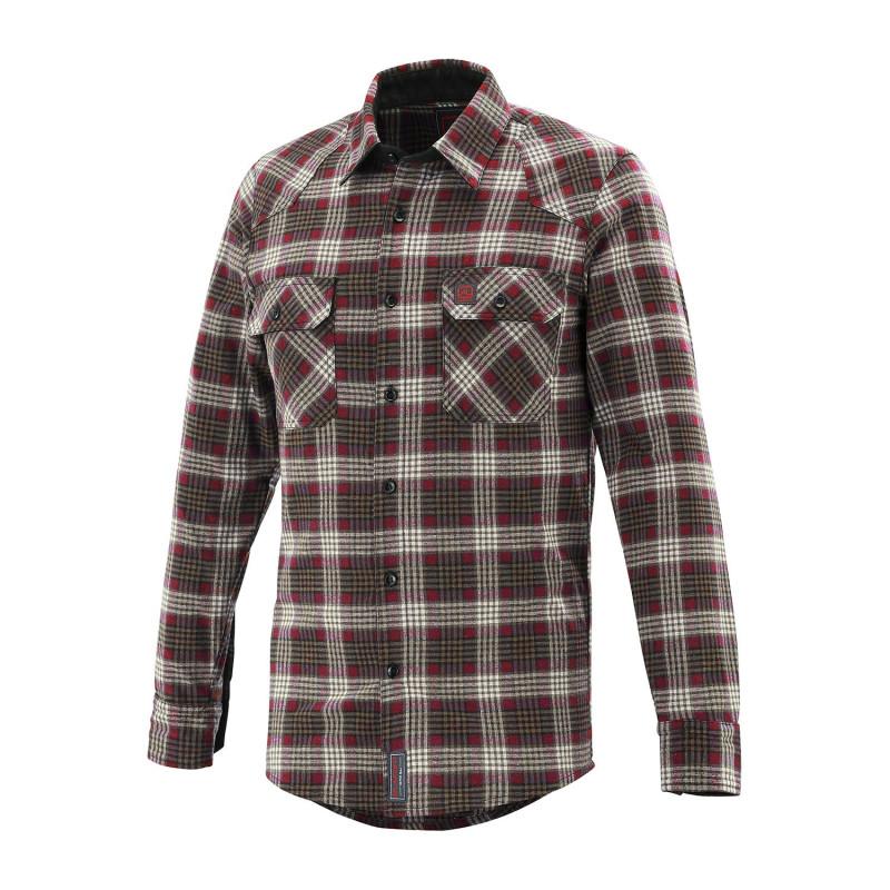 Chemise travail tartan rouge