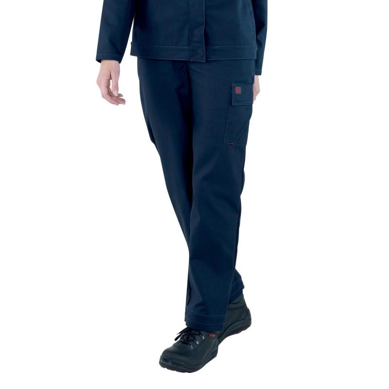 Pantalon travail bleu marine femme