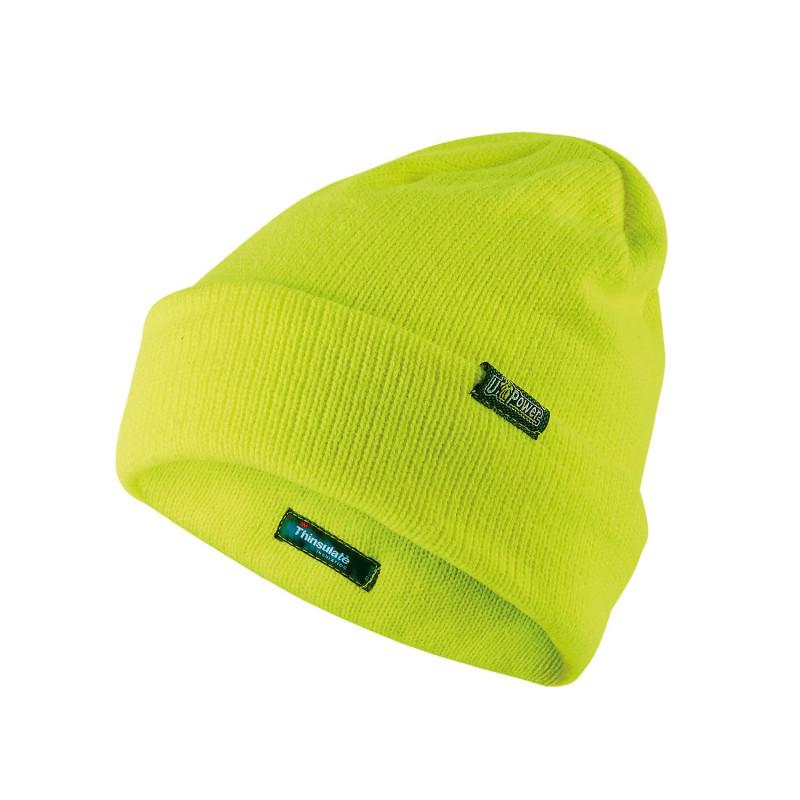 Bonnet travail jaune fluo