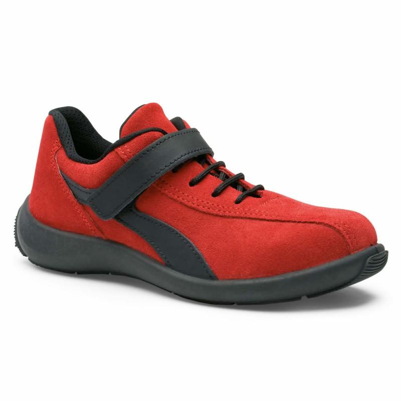 chaussures de sécurité femme rouge