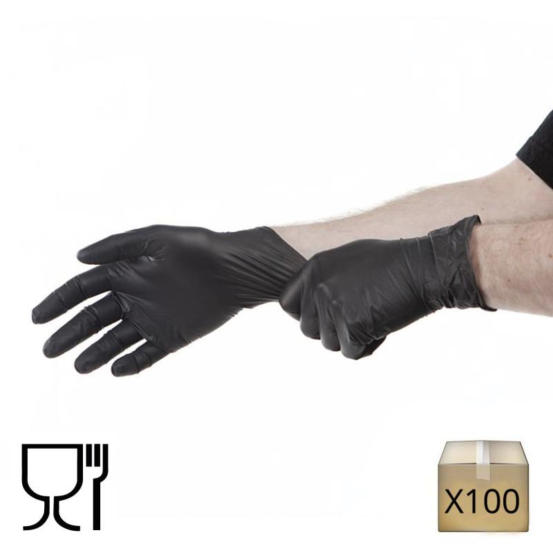 gant nitrile jetable noir