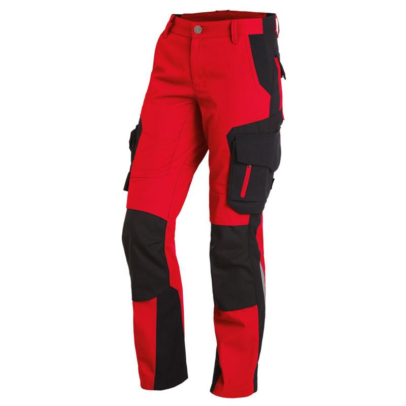 pantalon travail rouge femme