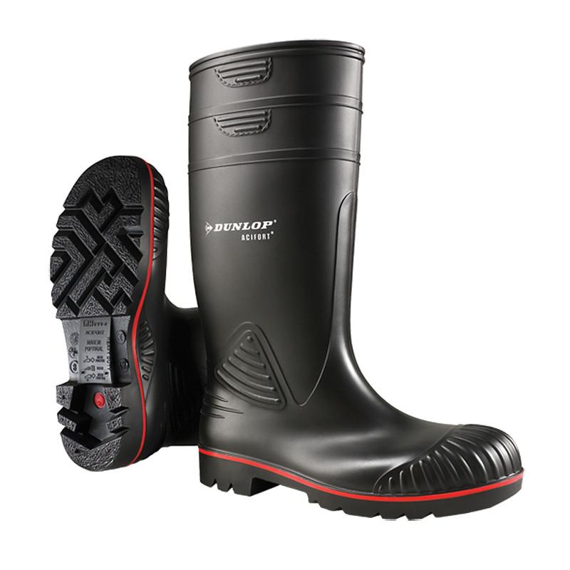 Bottes sécurité Noires S5 SRA Acifort Heavy Duty Dunlop