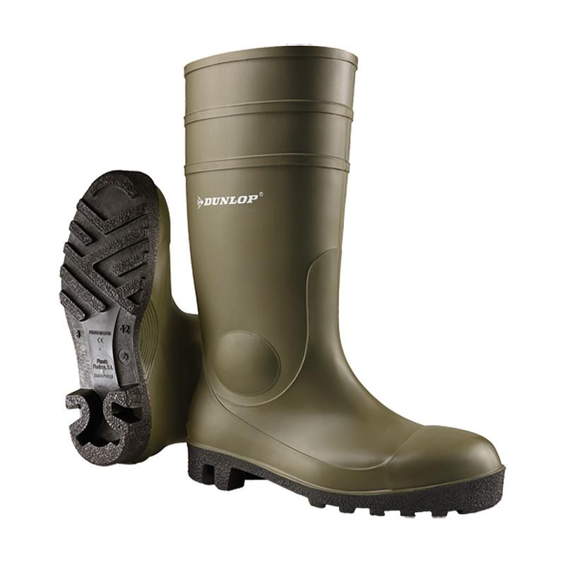 Bottes de sécurité vertes S5 SRA Protomastor Dunlop
