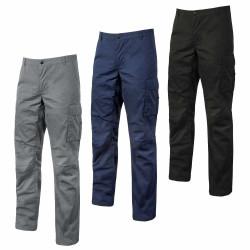 Pantalon de travail slim été en coton stretch OCEAN
