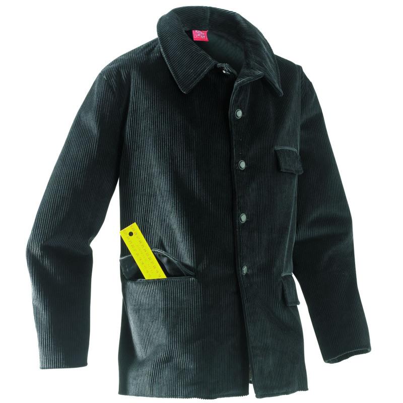 vareuse veste charpentier couvreur menuisier velours moleskine noir