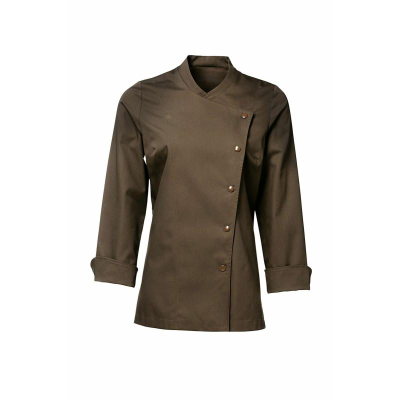 veste de cuisine femme bragard julia marron