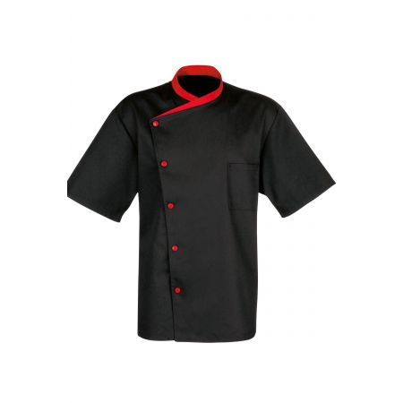 veste bragard juliuso noir rouge