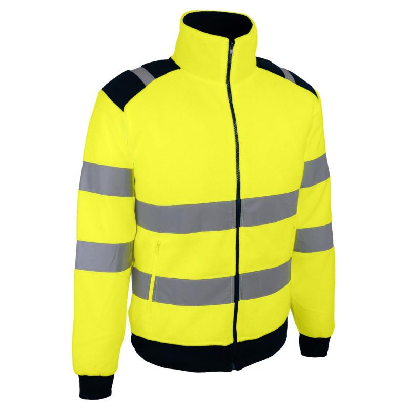 polaire jaune haute visibilité