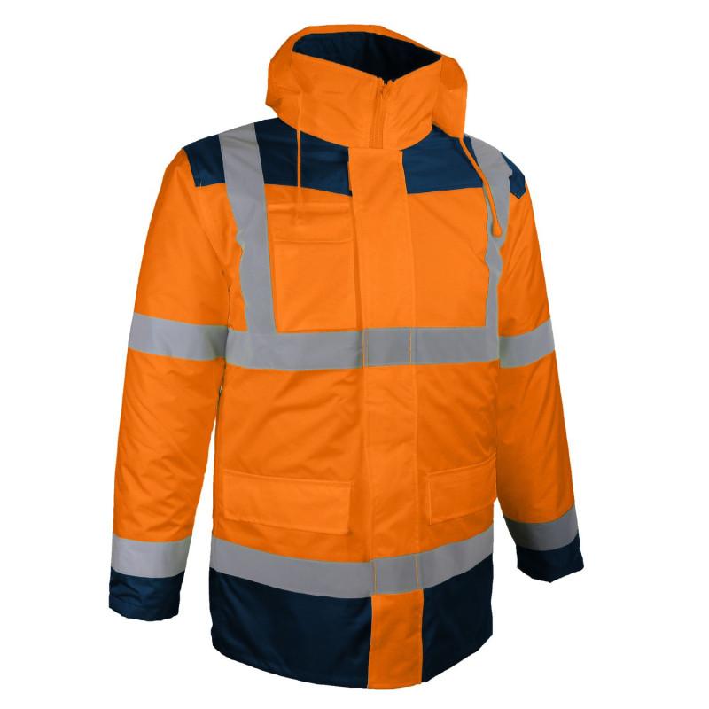 Parka orange haute visibilité 4 en 1