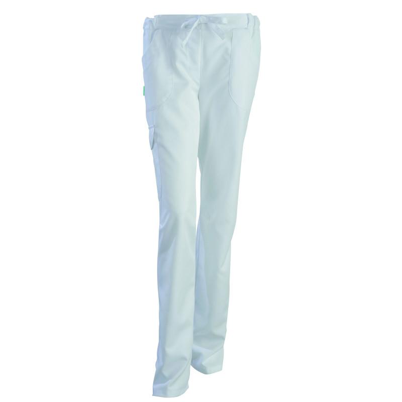 Pantalon médical femme en Tencel® par Clemix JULIETTE blanc
