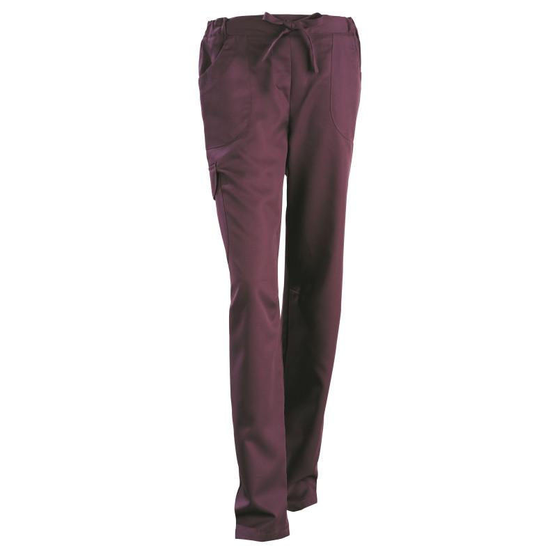 Pantalon médical femme en Tencel® par Clemix JULIETTE prune