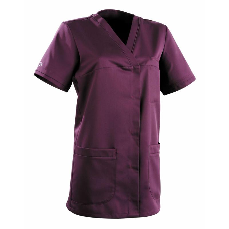 Tunique médicale Femme ALEXANDRA Clemix Semi Cintrée Violet (Prune)
