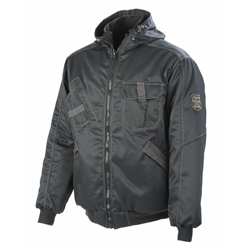 Blouson chaud à capuche professionnel noir Lafont collection Stone MOKI