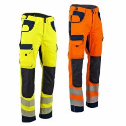 Pantalon haute visibilité poches genoux