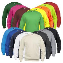 Sweatshirt de travail blanc mixte CLIQUE col rond BASIC ROUNDNECK