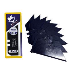 X10 lames trapeze black blade sk2 19mm 568808 KELI