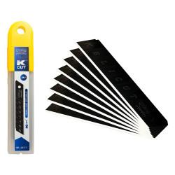 X10 lames cutter black blade 18mm 568810 KELI