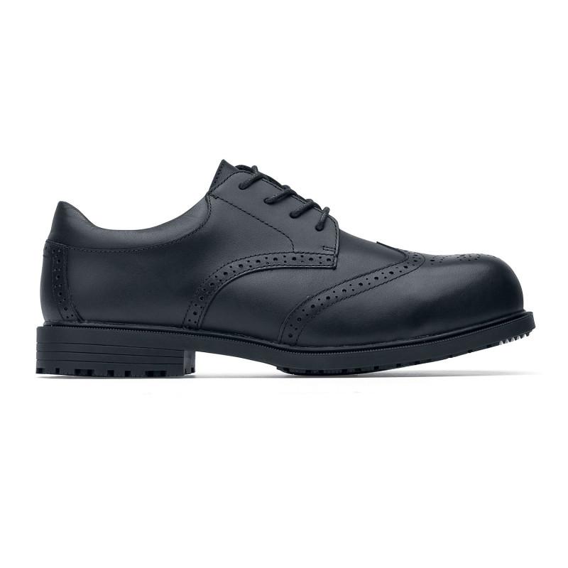 Derby de sécurité élégantes pour homme Shoes For Crews S2 EXECUTIVE WING TIP