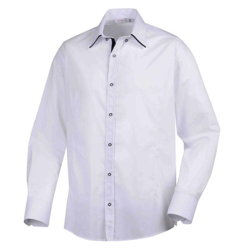 Chemise de serveur à manches longues Style Robur de couleur blanche