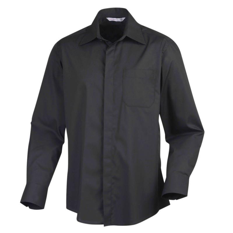 Chemise de service manches longues Sapa de la marque Robur et de couleur noire
