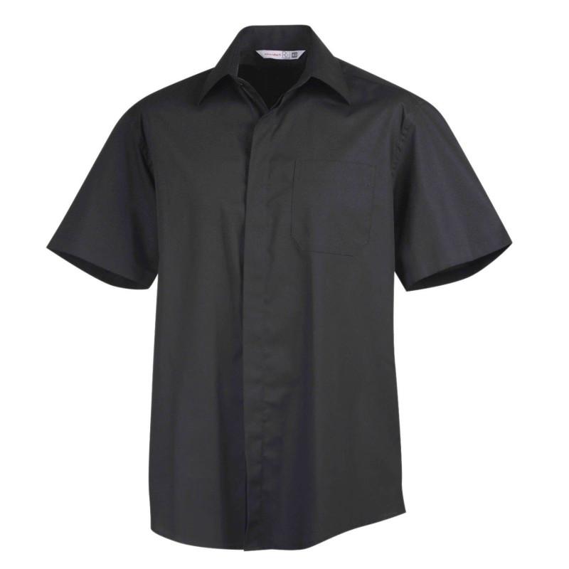 Chemise de service manches courtes Sapa marque Robur de couleur noire