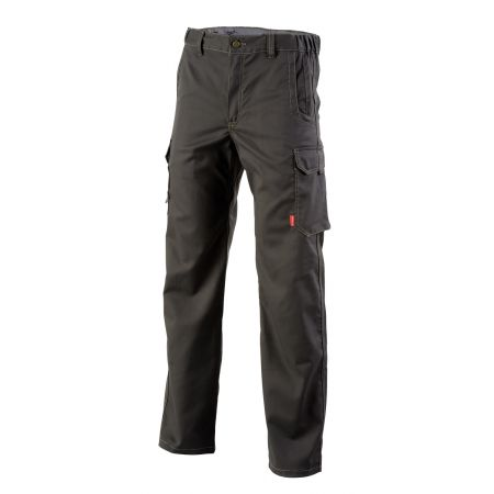 Pantalon de travail stretch sans poches genoux Chinook Lafont Collection Stone gris charbon