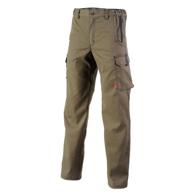 Pantalon professionnel stretch sans poches genoux Chinook Lafont Collection Stone marron havane