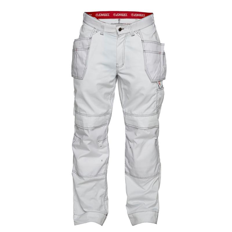 Pantalon de travail avec poches pendantes COMBAT blanc