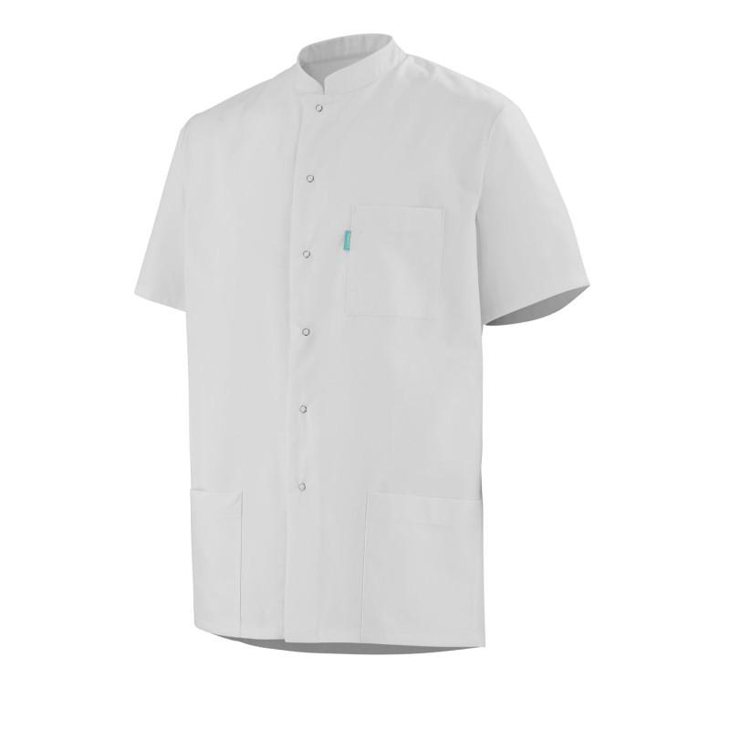 Tunique Médicale Homme courte de couleur blanche FLORENT Clemix
