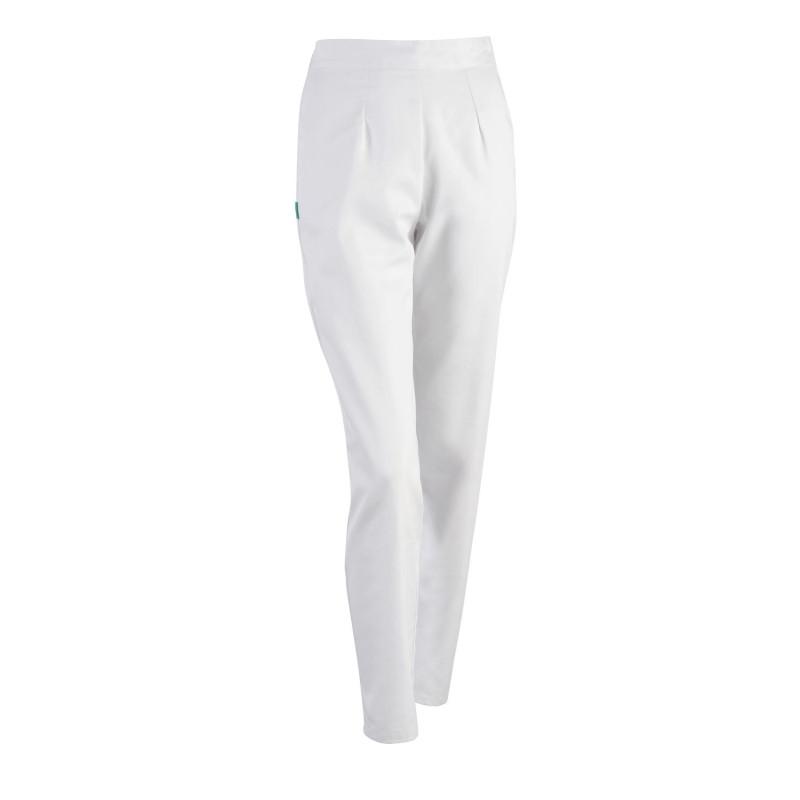 Pantalon médical femme blanc CARLA de Clemix