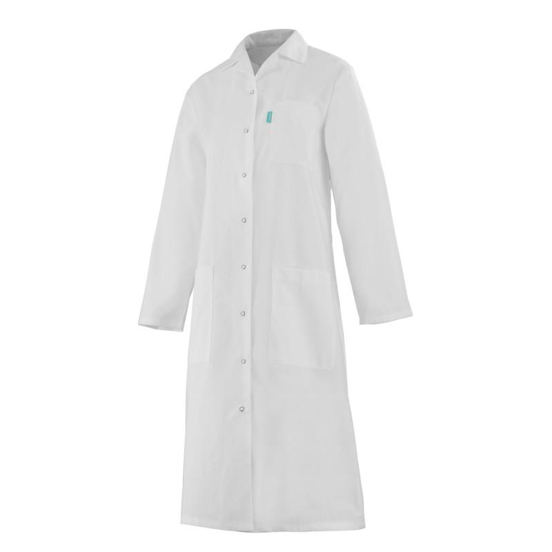 Blouse médicale femme à manches longues 100% coton blanche