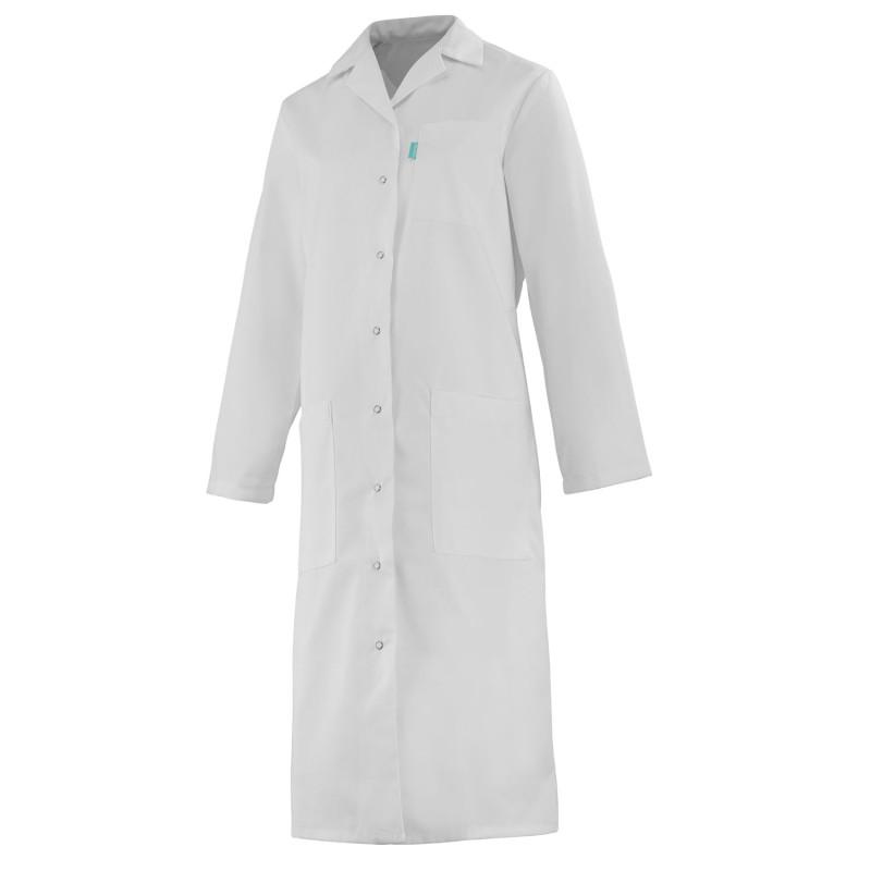 Blouse médicale femme à manches longues blanche