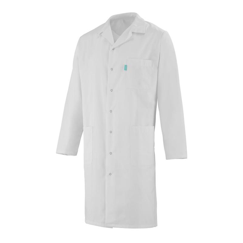Blouse médicale homme à manches longues de couleur blanche