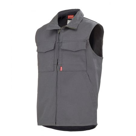 Gilet pro sans métal Lafont GRANIT Work Collection gris acier