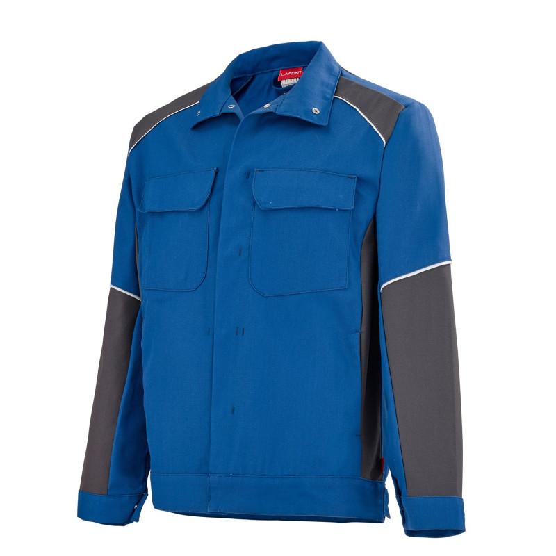 Blouson professionnel bleu gris Lafont collection Steel KELVIN entretien industriel