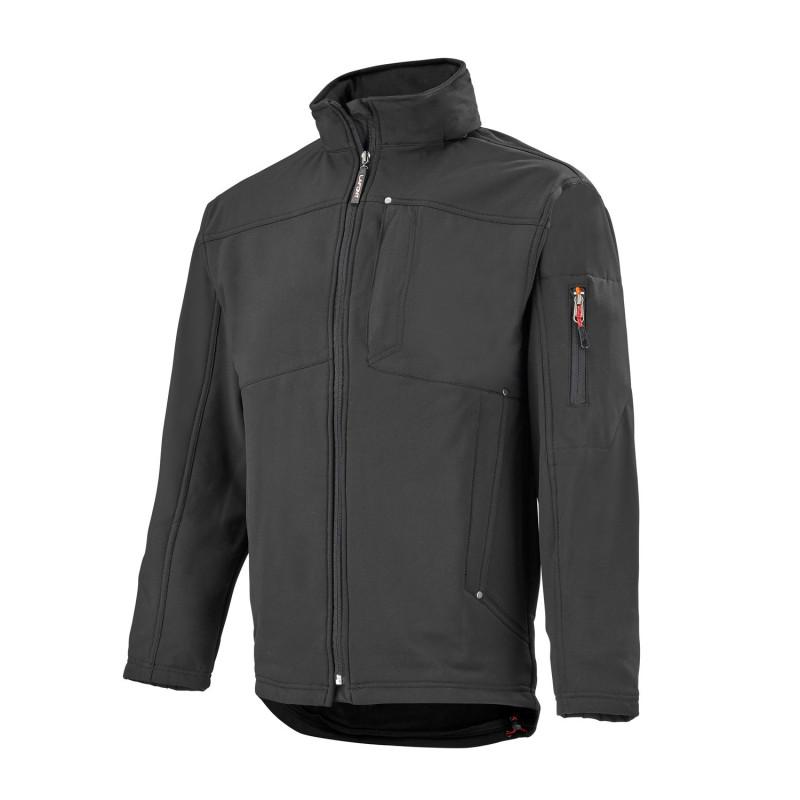 veste softshell de travail noir anti-pluie Lafont PLASTER