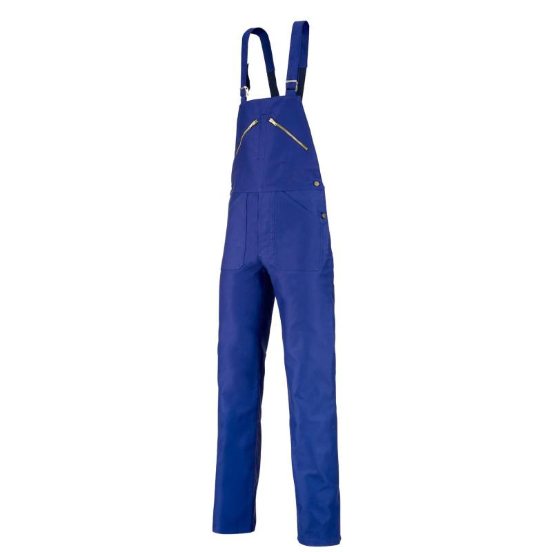 Salopette de travail en moleskine LAFONT Pierre Collection WORK LEGEND, coloris bleu marine, idéal charpentier, couvreur, menuis