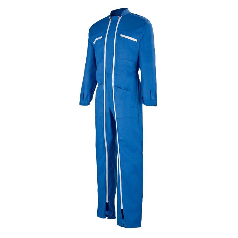 Combinaison de travail bleue double zip