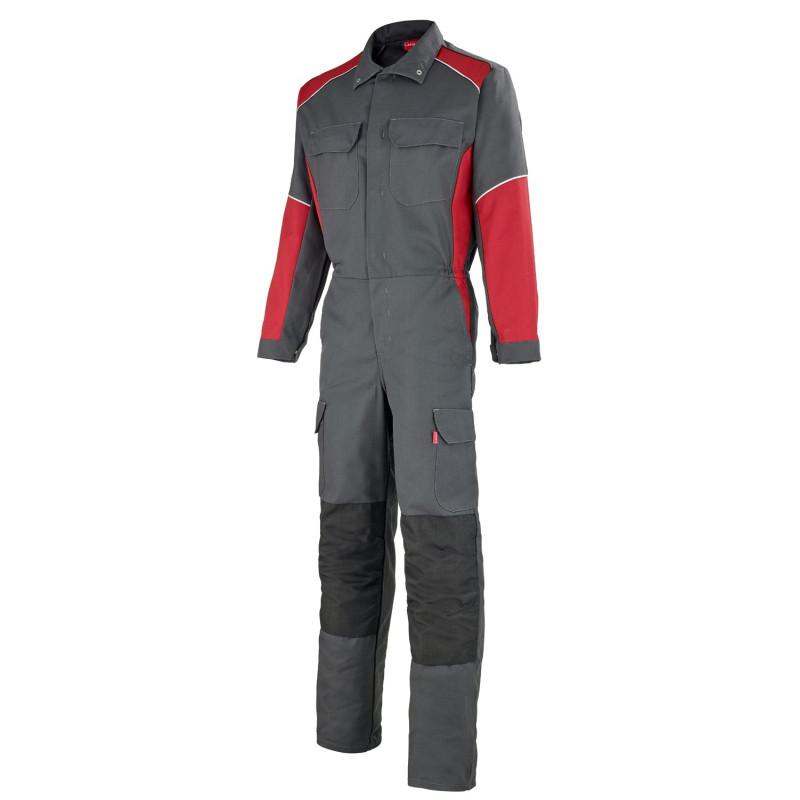 combinaison professionnelle Lafont Collection STEEL entretien industriel gris rouge