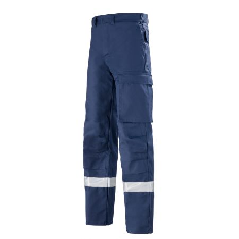 pantalon atex bleu